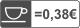 0,38 senti/tass